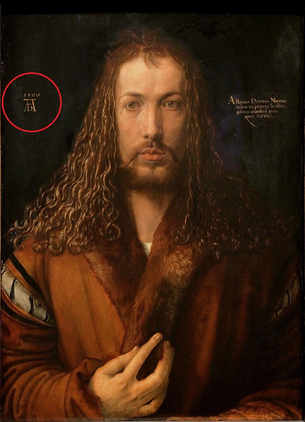 Dürer_-_Selbstbildnis_im_Pelzrock_-_Alte_Pinakothek