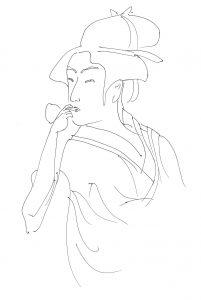 浮世絵ライン画