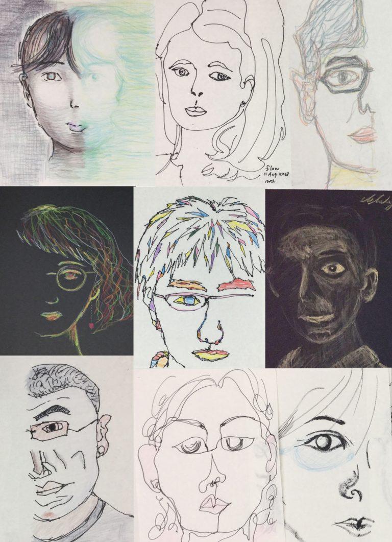 人の顔ワークショップ01